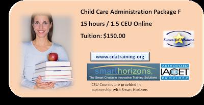 Child Care Administration Training 15 hours/ 1.5 CEU