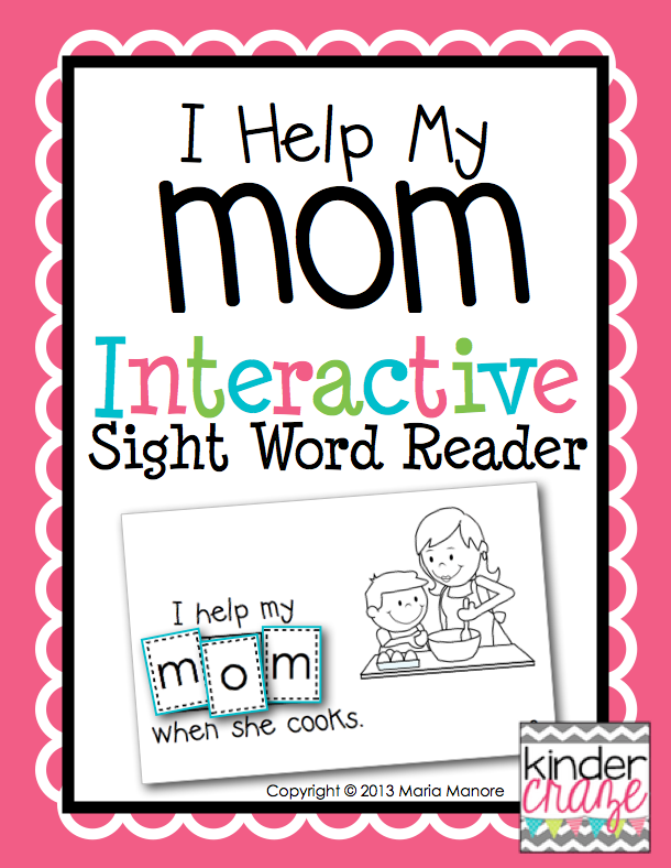 Perfect emergent reader for Mother's Day!