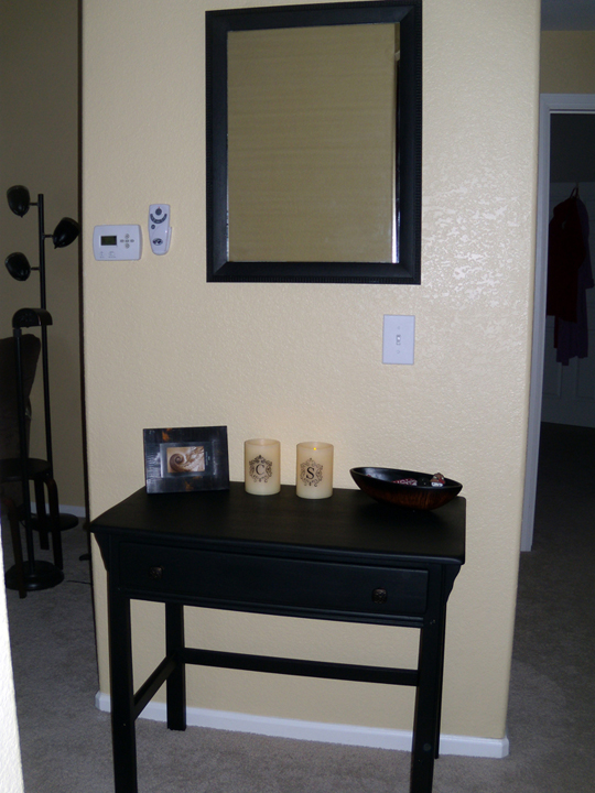 ashly simmons painted entry table and mirror