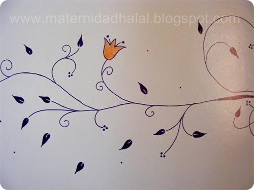 Maternidad halal c mo hacer un dibujo en la pared for Dibujos faciles para paredes