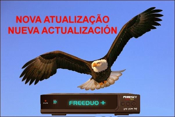 NOVA ATUALIZAÇÃO  FREESKY FREEDUO+ PLUS V2.01