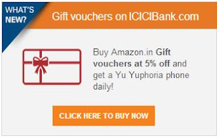 [ICICI Net banking] 5% off on Amazon.in Gift Cards