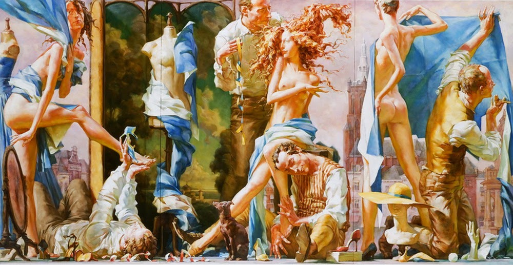 mujeres-bailando-cuadros-en-oleo
