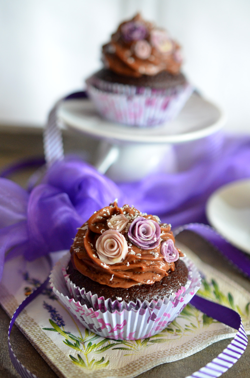 Schoko-Malzbier-Cupcakes mit Ovomaltine-Frosting