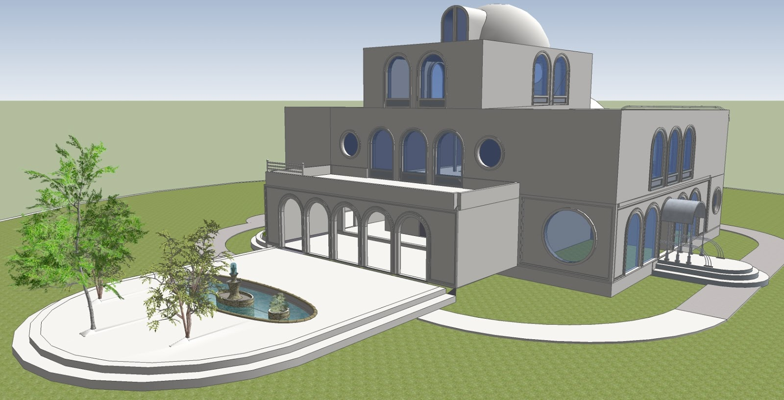 Sketchup by dawn for Modern house sketchup