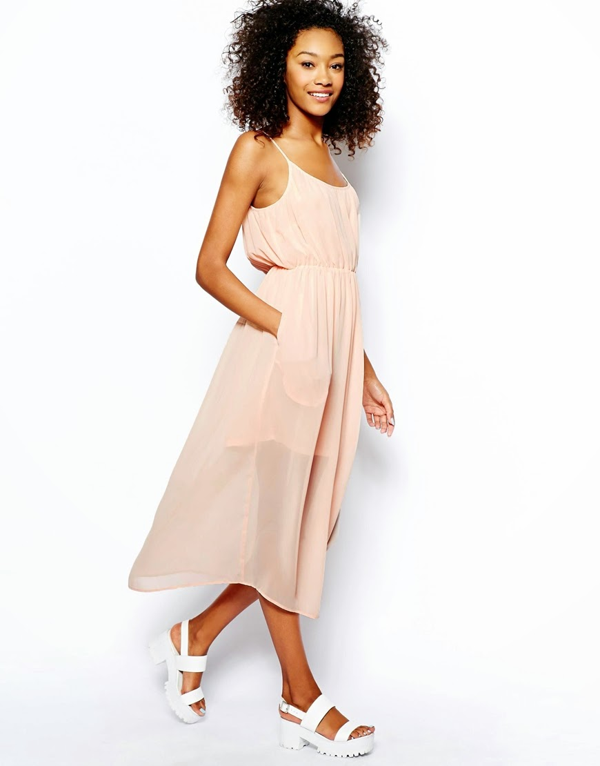 monki peach dress