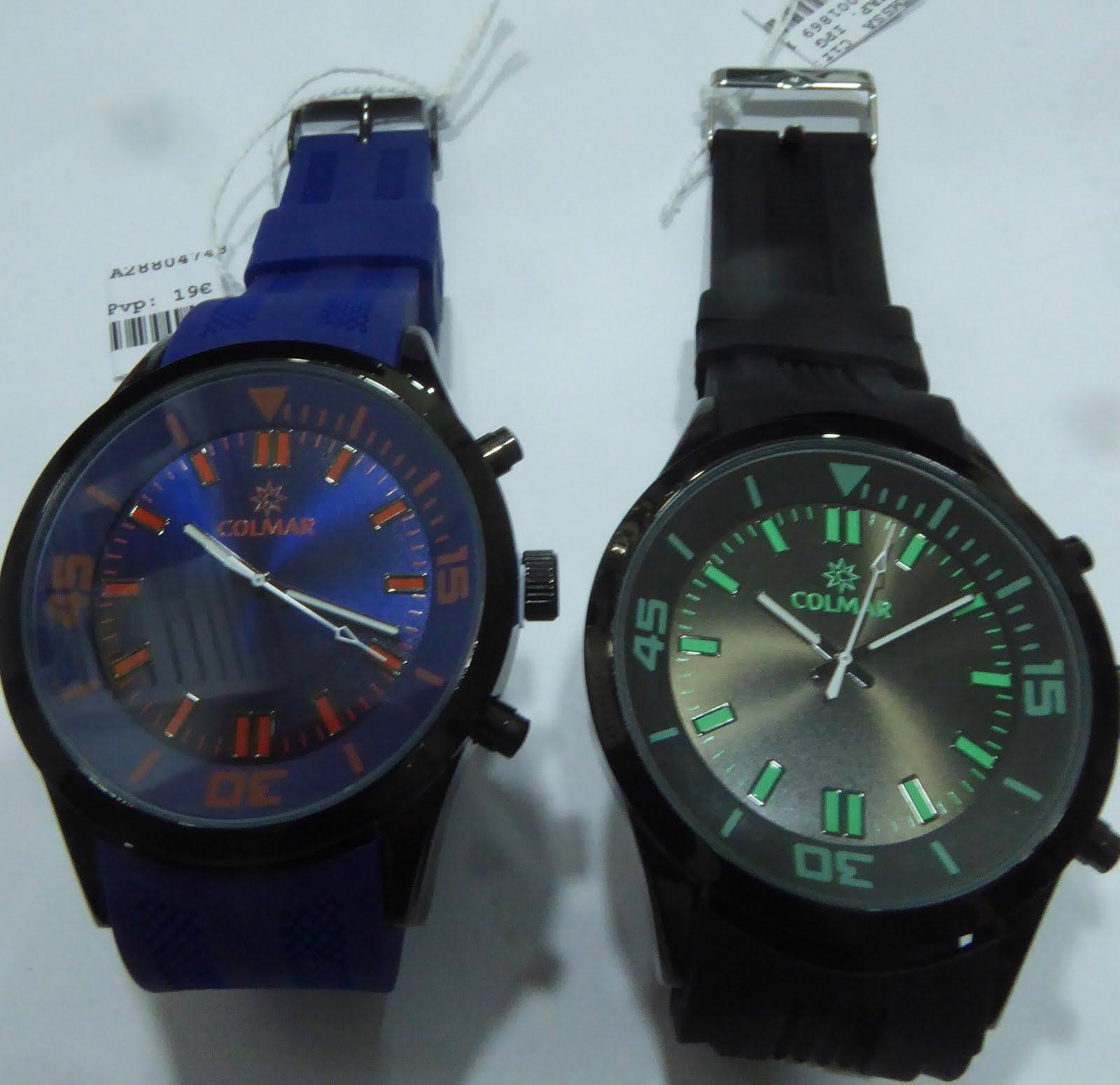 Relojes Colmar acero, sumergibles, caballero