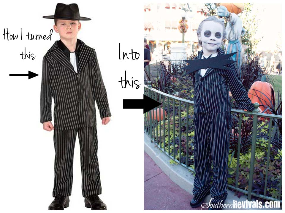Walmart Gangster Turned Jack Skellington Halloween Costume Tutorial  sc 1 st  Southern Revivals & Walmart Gangster Turned Jack Skellington Halloween Costume Tutorial ...