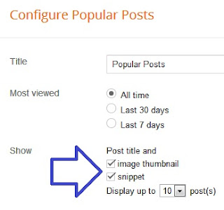 Membuat Widget Popular Posts pada Blog