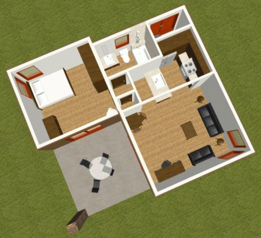 gambar denah rumah 3d tipe 36 idaman