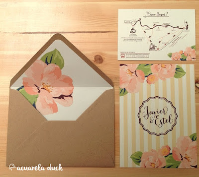 invitacion de boda flores