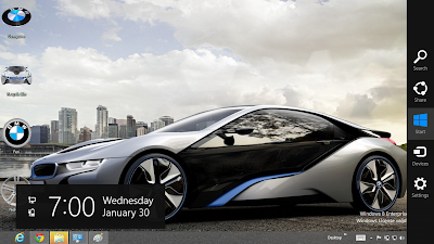BMW Hybrid i8 2013 Theme For Windows 8