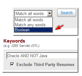 Dice resume search