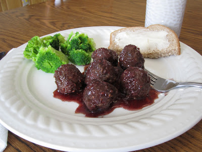 lamb meatballs in raspberry sauce
