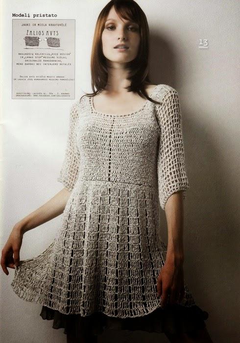 Vestido crochê
