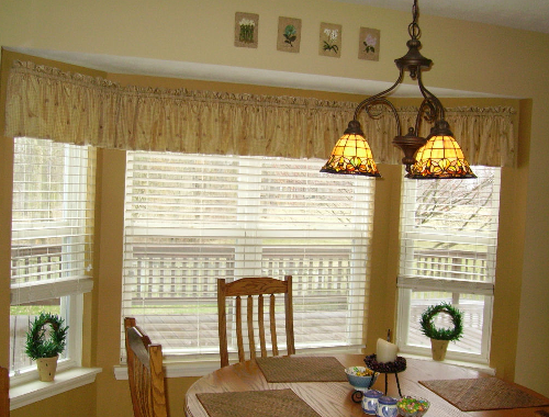 Home window design 2011 home kitchen bay window treatment - Kitchen bay window treatments ...