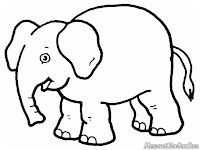 Elephant Printable Kids Coloring Pages