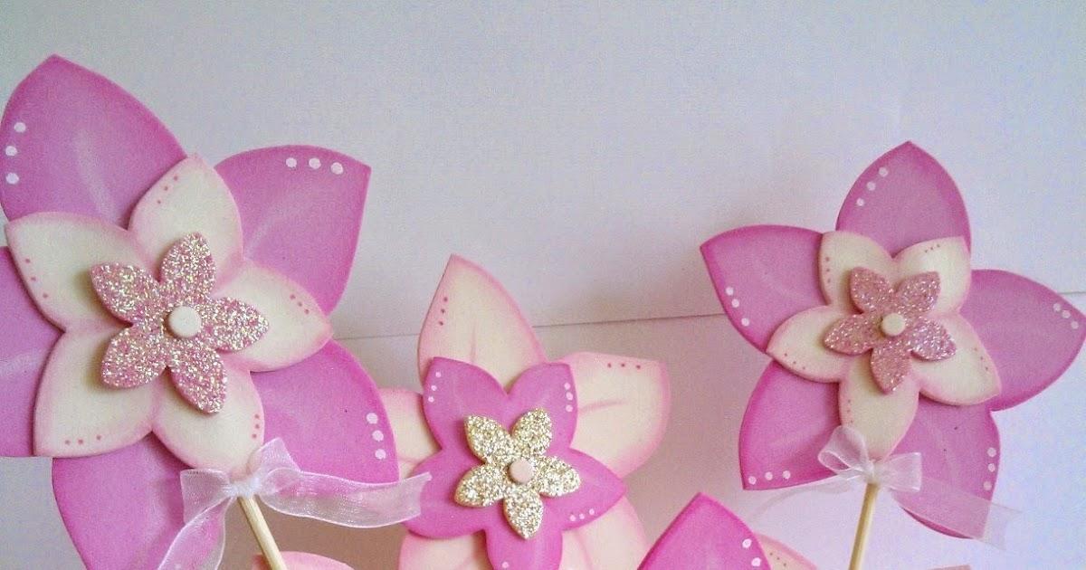 Cucadas de mami maceta decorada flores de goma eva para - Goma eva decorada ...