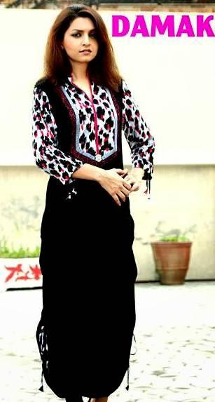 Damak Stylish Winter Dresses Collection 2013-14 For Women & Girls