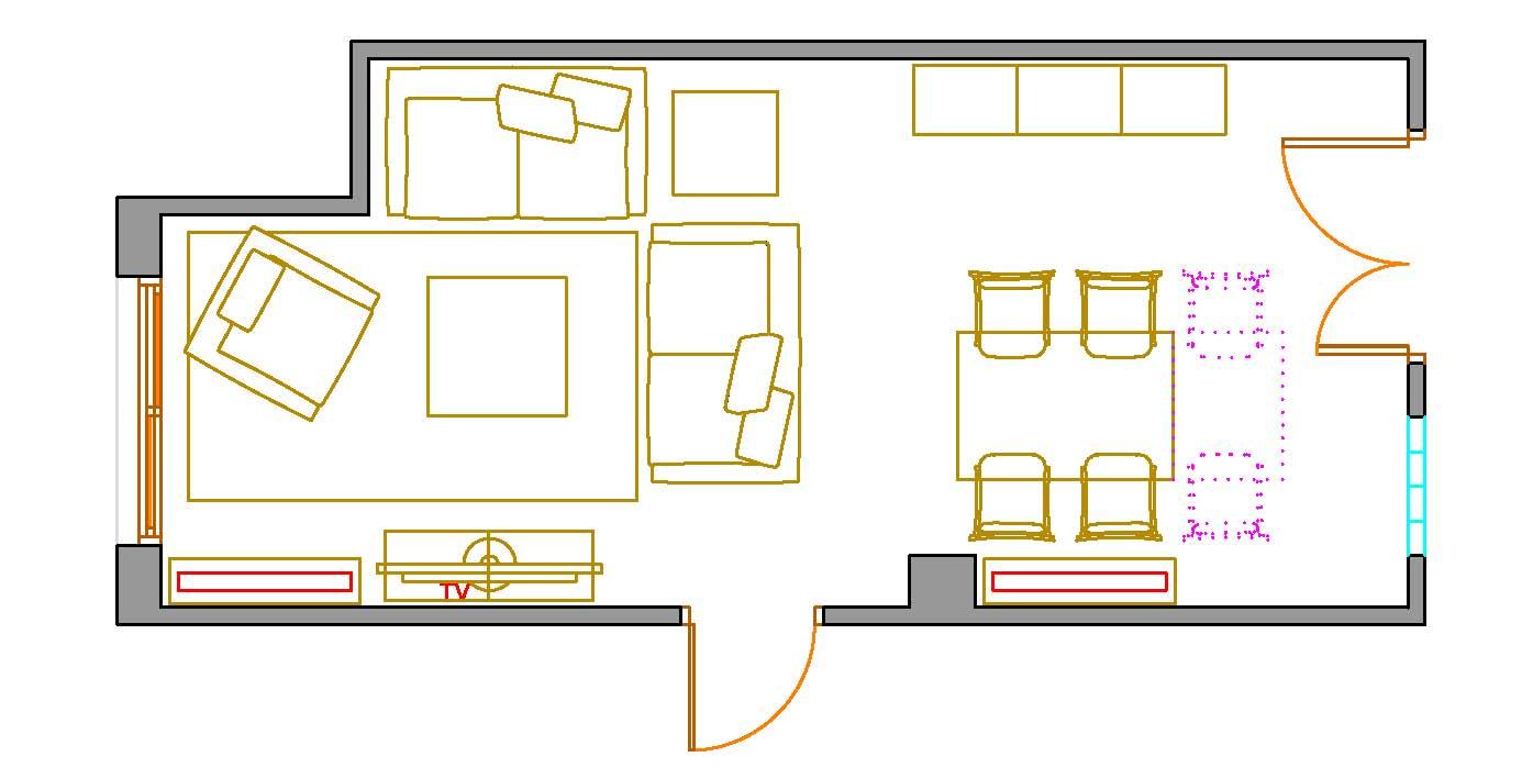 planos low cost sal n comedor complicado de distribuir On plano del salón comedor