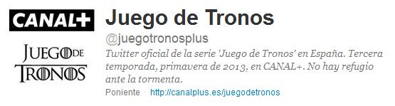 @juegotronosplus, juego de tronos plus en twitter
