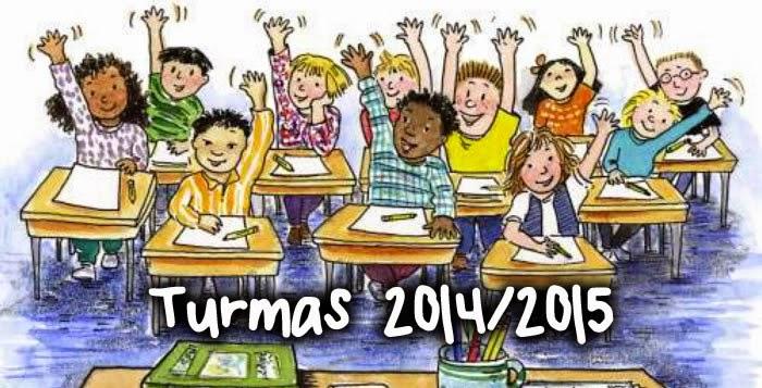 Turmas 2014-2015 Pré-escolar