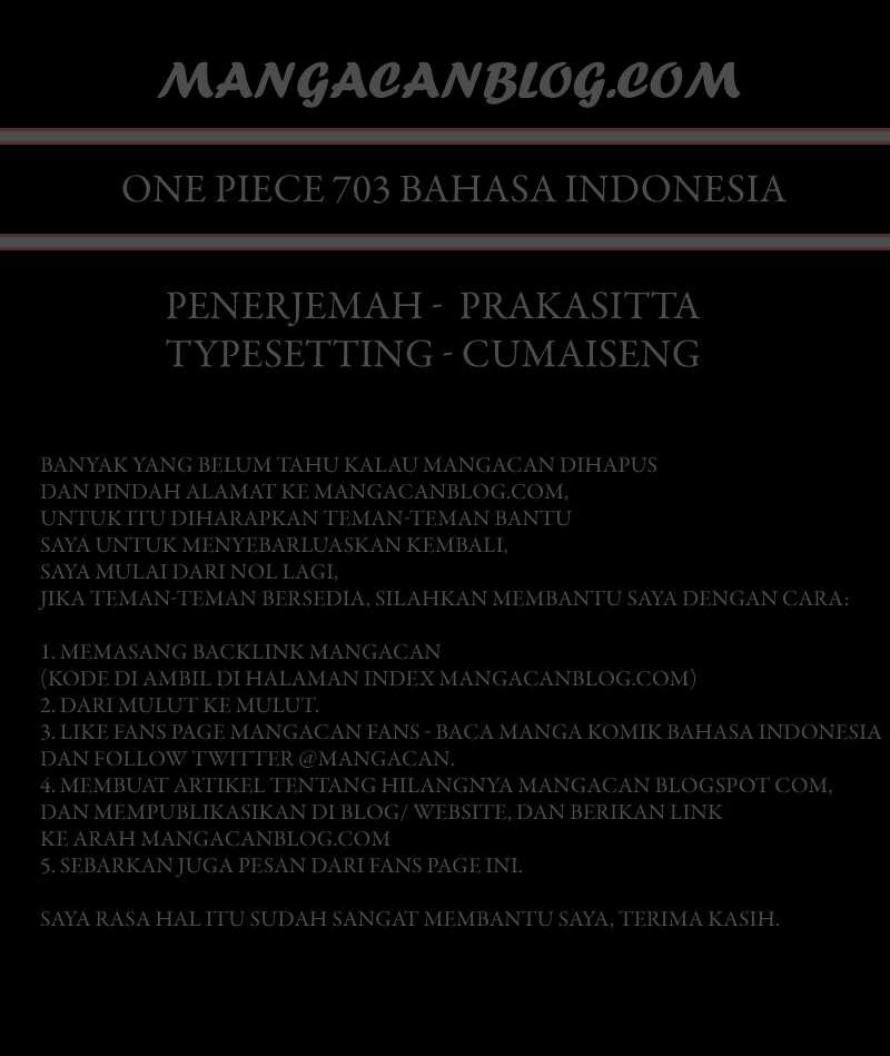 Komik one piece 703 - Ruang tunggu 704 Indonesia one piece 703 - Ruang tunggu Terbaru 2|Baca Manga Komik Indonesia|Mangacan