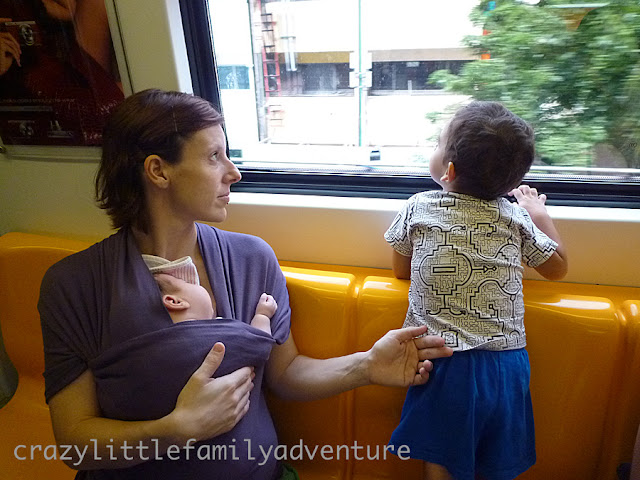 babywearing, family trip, crazy little family adventure