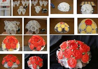 Como Hacer un Centro de Mesa con Cupcakes, Reposteria Paso a Paso