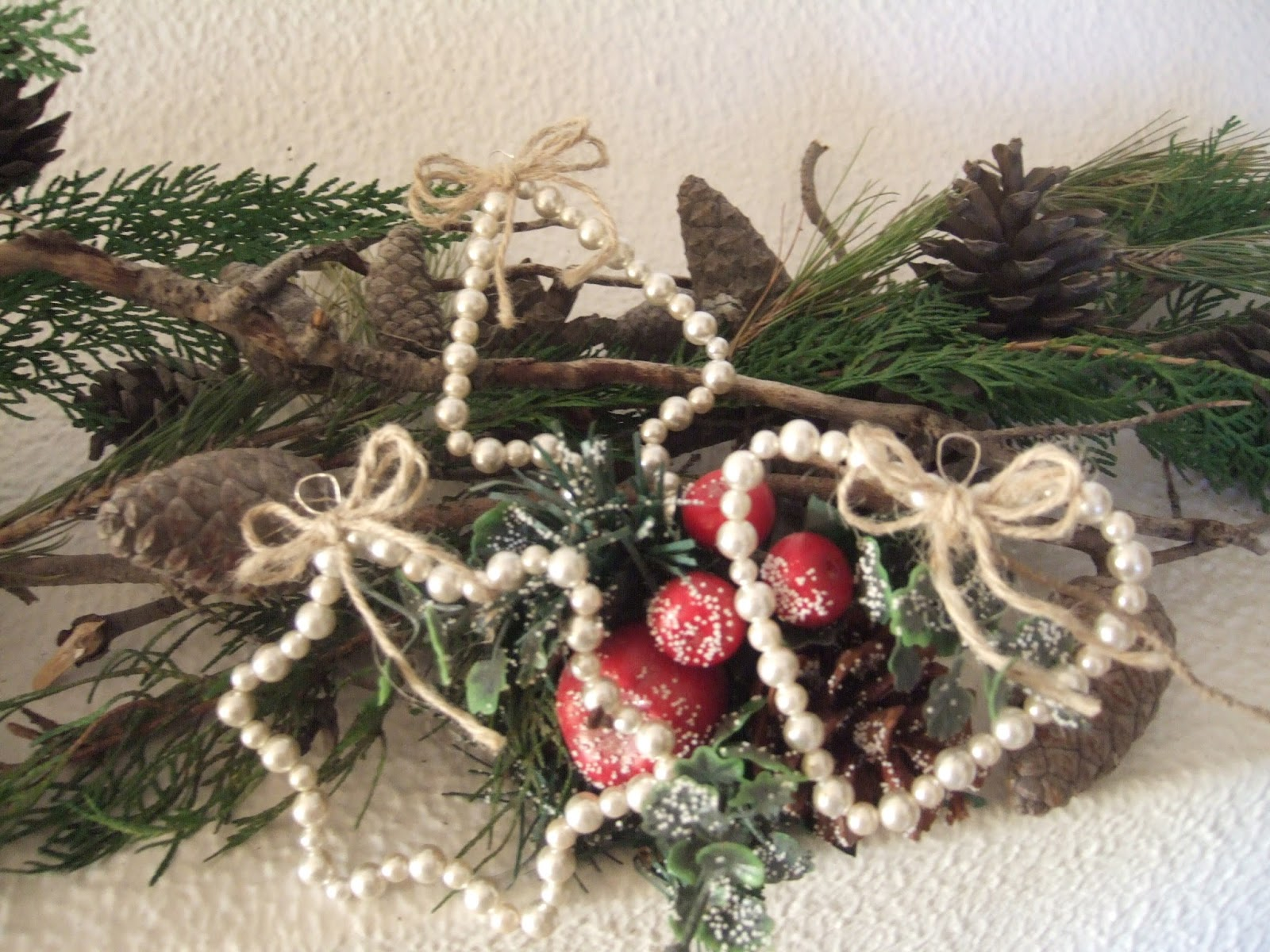 Addobbi di natale shabby bt05 regardsdefemmes - Natale country decorazioni ...