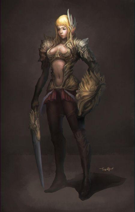Francis Tneh deviantart ilustrações mulheres fantasia Guerreira