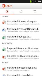 Apps Office Mobile for Office 365 v15.0.1924.2000