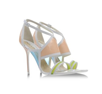 Pollini multicolored strappy high heels