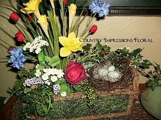 Sunburnt cow handmade shop spring and easter floral arrangements and what a beautiful way to bide your time waiting with this beautiful hoping for spring floral arrangement mightylinksfo