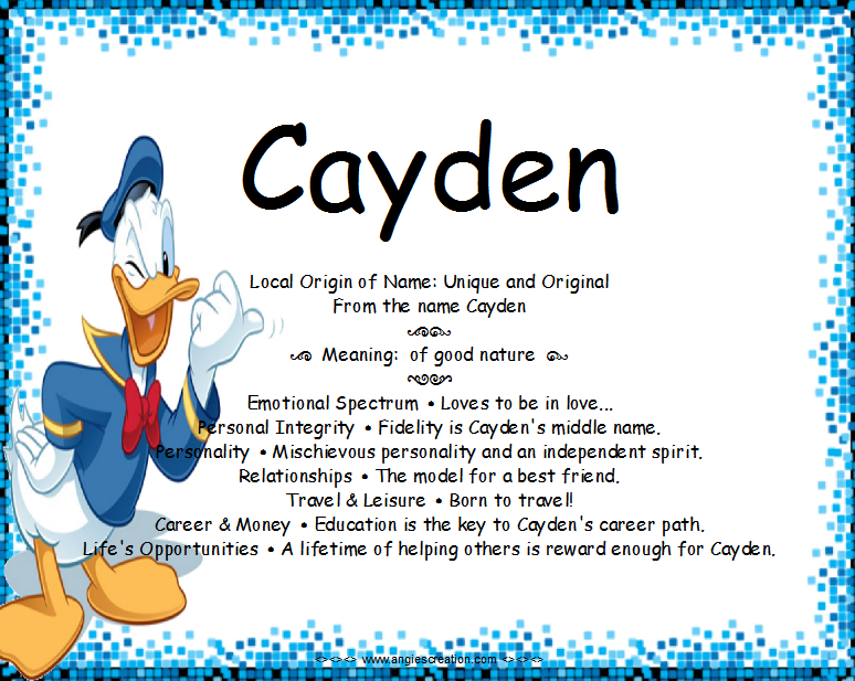 cayden.png (774×617)   Names with meaning, Meant to be ...