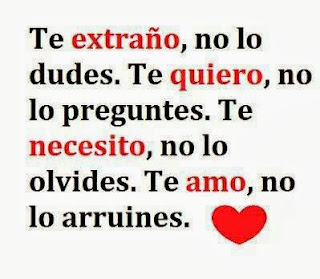 Frases De Amor: Te Extraño No Lo Dudes Te Quiero No Lo Preguntes