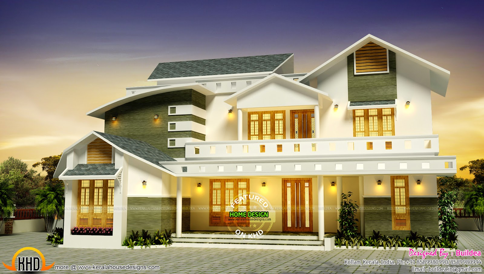 Modern square home design plan feet contemporary exterior for Modern nalukettu house plans