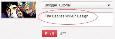Cara menambahkan Pin it button pada setiap gambar di Blogger