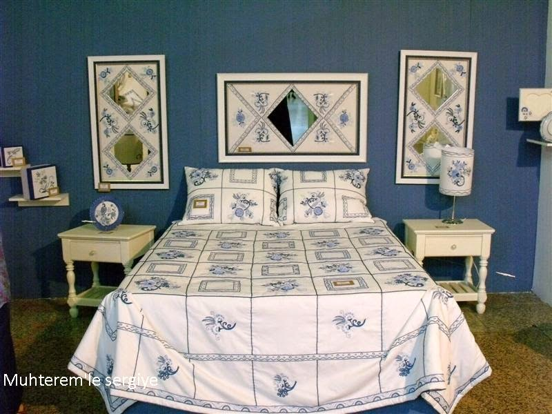 ribbon embroidery bedspread