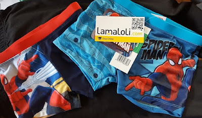 Lamaloli children's Spiderman swimming trunks shorts