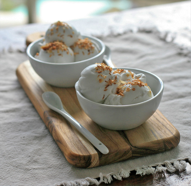 Vegan Coconut Ice Cream | Girl Cooks World