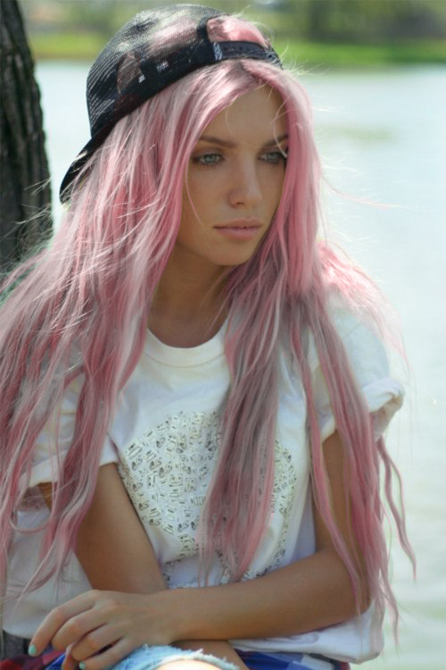 in passion colorful hair