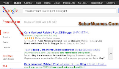 rating bintang rich snippets