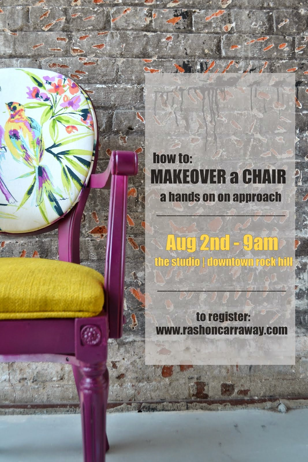 chair MAKEOVER class