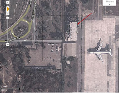 sattelite image of old airport lahore