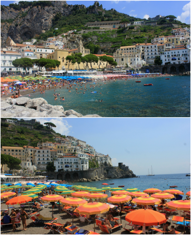 beaches of amalfi and atrani, italy