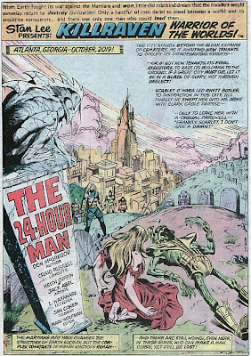 Killraven, War of the Worlds, Amazing Adventures #35, the 24-Hour Man, cemetery splash page