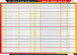 Jadwal KRL per 1 April 2013 Jakarta Kota/Jatinegara-Bogor/Depok