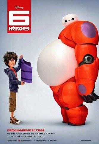Cartel de la película de animación 6 Heroes