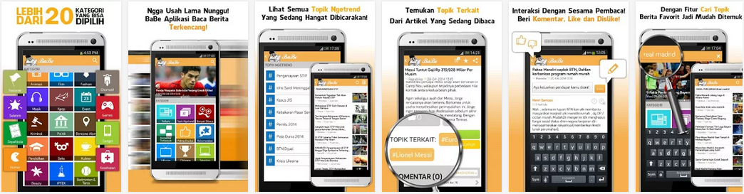 BABE, Aplikasi Baca Berita Indonesia Terlengkap Di Android
